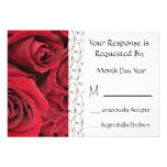 Red Rose Floral RSVP Card Personalised Invitation
