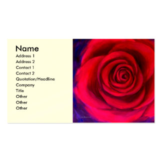 Red Rose Flower Art - Multi Double-Sided Standard Business Cards (Pack Of 100)