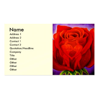 Red Rose Flower Painting Art - Multi Pack Of Standard Business Cards