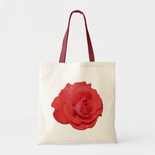 Red Rose Flower Photo Tote Bag