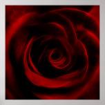 Red Rose Fractal flower Poster