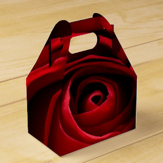 Red Rose Gable Favor Box Favour Boxes