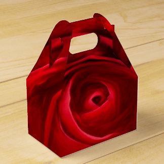 Red Rose Gable Favor Box Wedding Favour Box