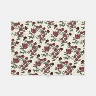 Red Rose Garden Fleece Blanket