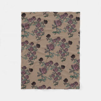 Red Rose Garden Fleece Blanket