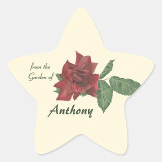 Red Rose Garden Stickers