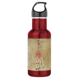 Red Rose Giraffes  Liberty Bottle 532 Ml Water Bottle
