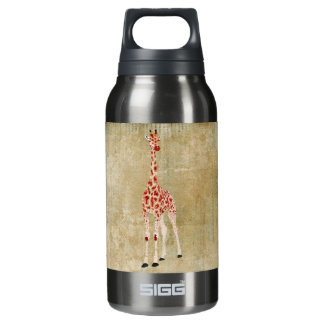 Red Rose Giraffes  Liberty Bottle 10 Oz Insulated SIGG Thermos Water Bottle