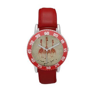 Red Rose Giraffes Watch