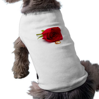 Red Rose Gold Diamond Ring Dog Clothes