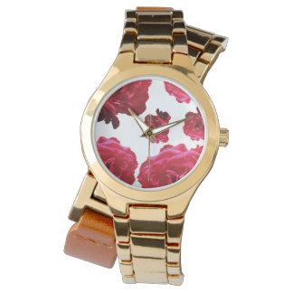 Red Rose  Gold Wrap-Around Watch