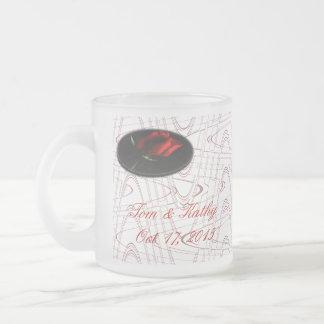 Red Rose Graphic Glass Mug-customize Frosted Glass Mug