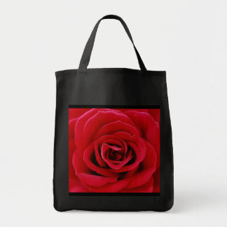 Red Rose Grocery Tote