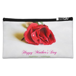 Red Rose Happy Mother's Day Medium Cosmetic Bag