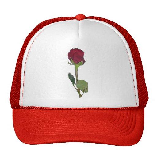 Red Rose Mesh Hat