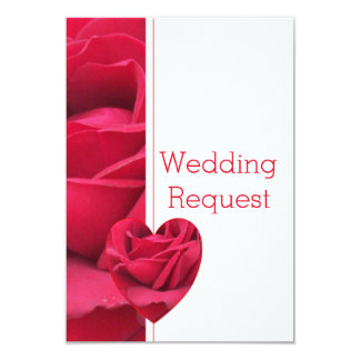 Red Rose Heart Maid Of Honour Request 9 Cm X 13 Cm Invitation Card