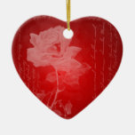 Red Rose Heart Ornament