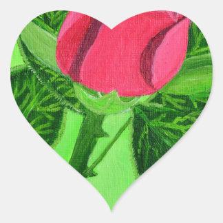 Red Rose Heart Sticker
