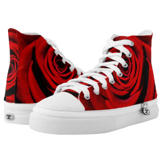 Red Rose Hightop Sneakers