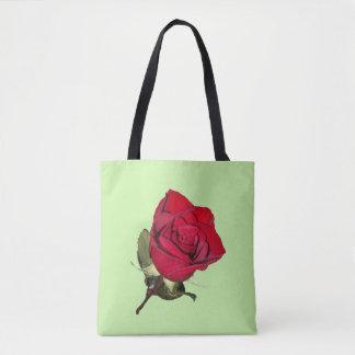 Red Rose Image Tote Bag