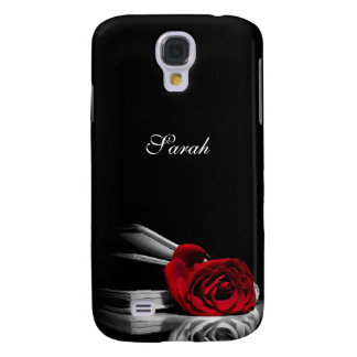 Red Rose in book Personalized Galaxy S4 Case