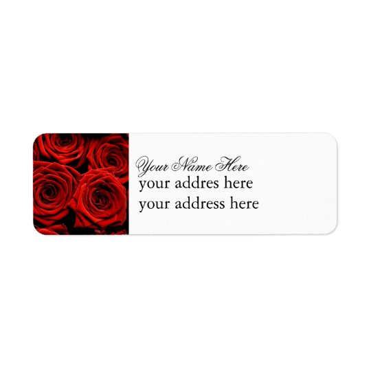 Red Rose Label