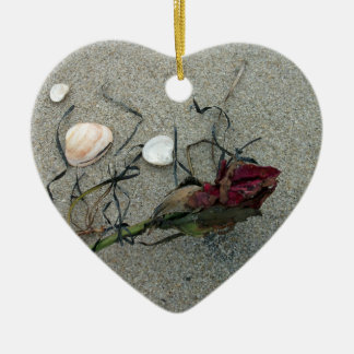 Red Rose Lost at Sea Christmas Ornament