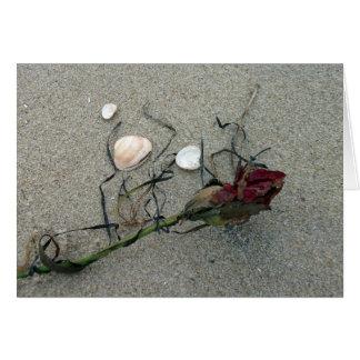 Red Rose Lost at Sea Greeting Card
