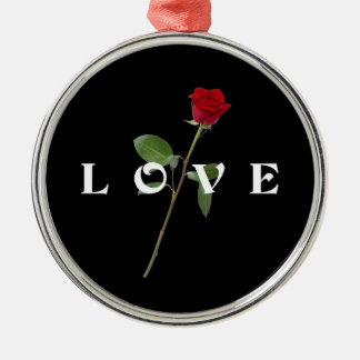 Red Rose Love Christmas Ornament