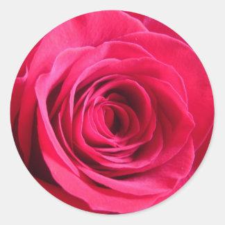 Red Rose * Love Round Sticker
