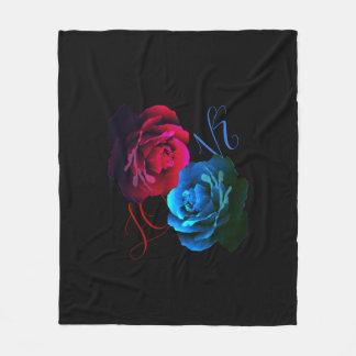 Red Rose Loves Blue Rose Fleece Blanket
