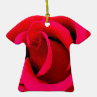 Red Rose macro Christmas Ornament
