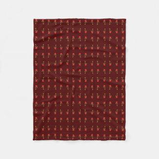Red Rose Maroon Blanket