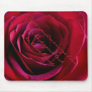 Red Rose Mousepad Personalized Red Rose Mousepad