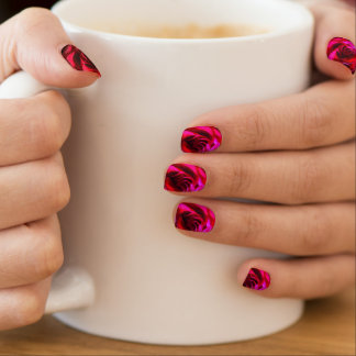 Red Rose Nails Minx Nail Art