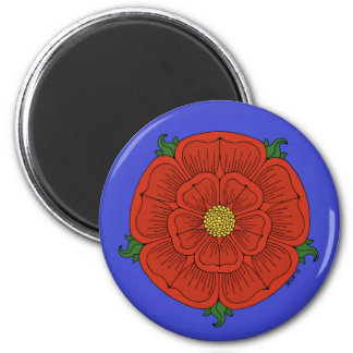 Red Rose of Lancaster 6 Cm Round Magnet