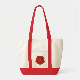 Red Rose of Lancaster Tote Impulse Tote Bag