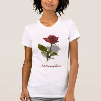 Red Rose of Love Portrait T Shirts