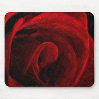 Red Rose Oil Painting Mouse Pad