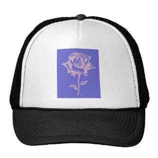 Red Rose on Purple Trucker Hat
