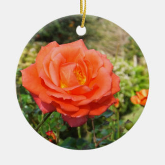 Red Rose ornament, customize Christmas Ornament