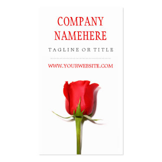 Red Rose Pack Of Standard Business Cards