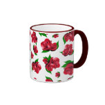 Red Rose Pattern Coffee Mug
