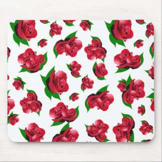 Red Rose Pattern Mouse Pads