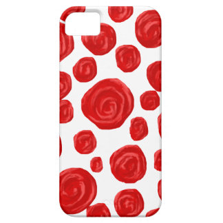 Red Rose Pattern on White. Case For The iPhone 5