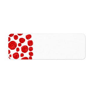 Red Rose Pattern. Return Address Label