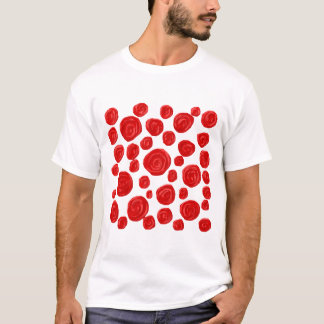 Red Rose Pattern. T-Shirt