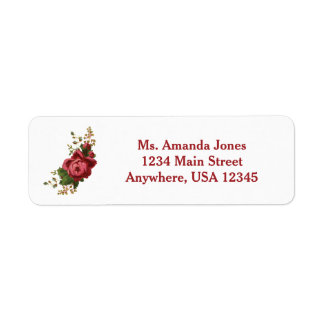 Red Rose | Personalized Return Address Label