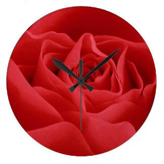 Red Rose Petals Clocks