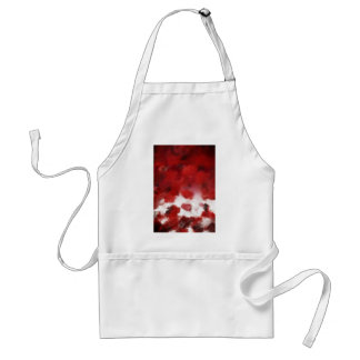 Red Rose Petals Painting Art 2 - Aprons